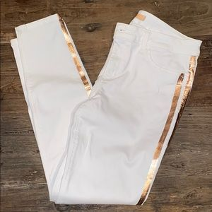 Joe's Jeans white with gold stripes. W31
